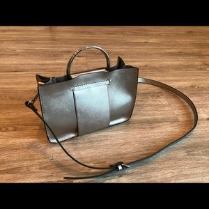 ZARA - Chrome metallic purse